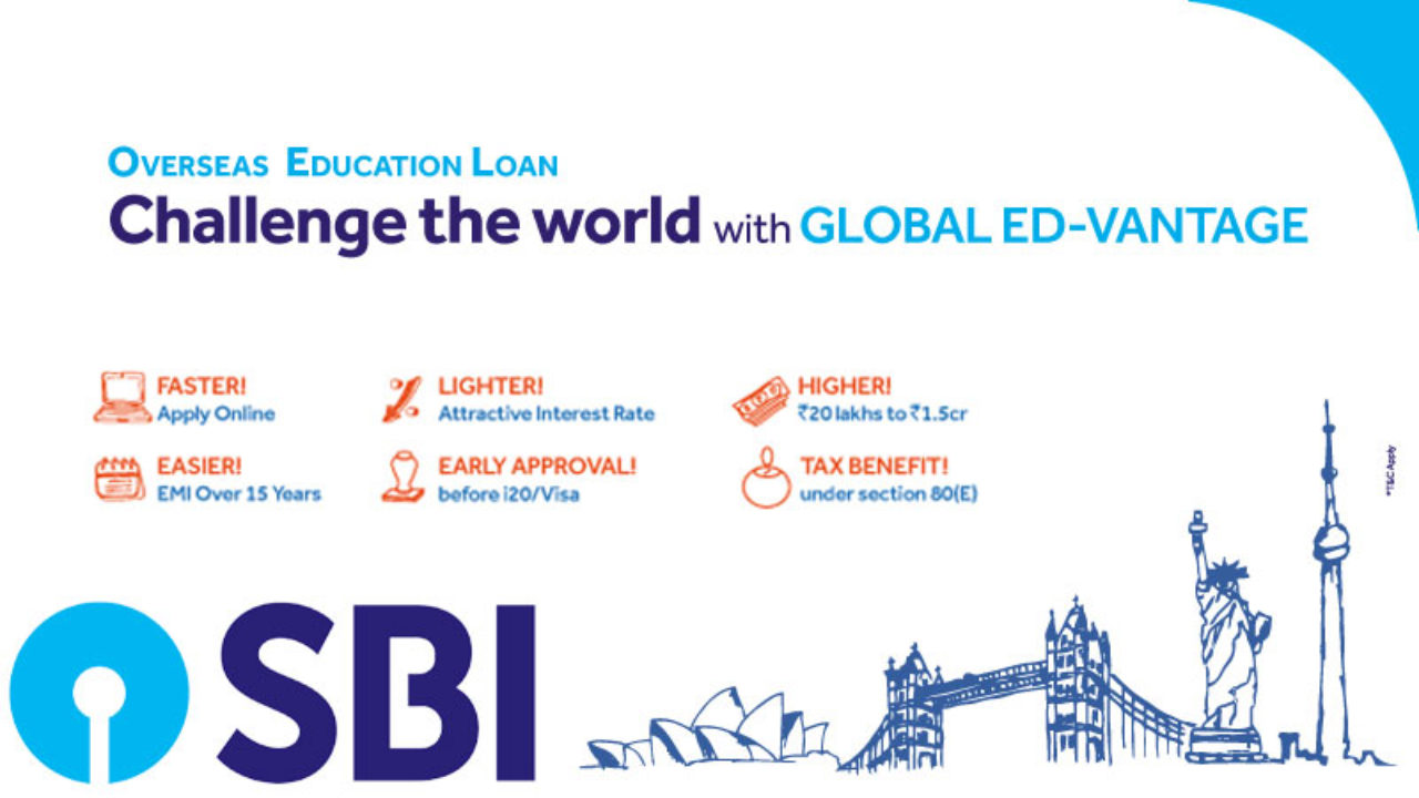 Up to Rs  1 5 Crore Education Loan by SBI to study abroad
